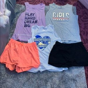Three T-shirt and two short set